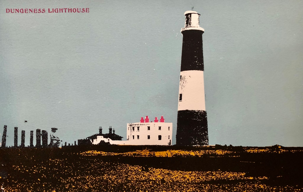 Dungness Lighthouse Postcard screenprint