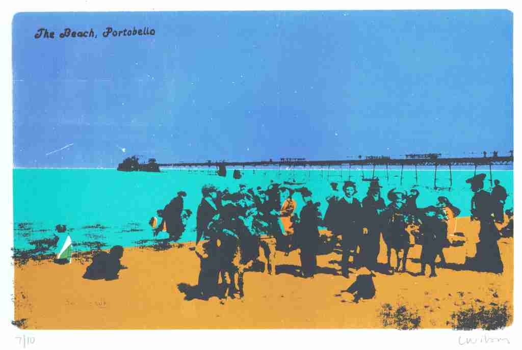 The Beach Portobello screenprint