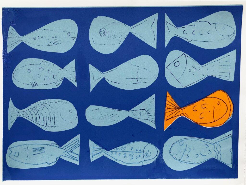 Box of Fish Screenprint edition of 8