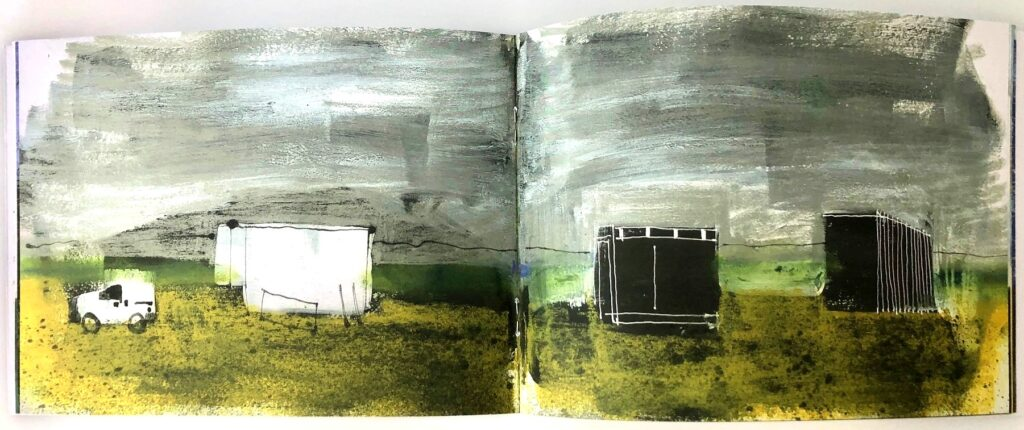 Dungeness sketchbook pages 6 and 7