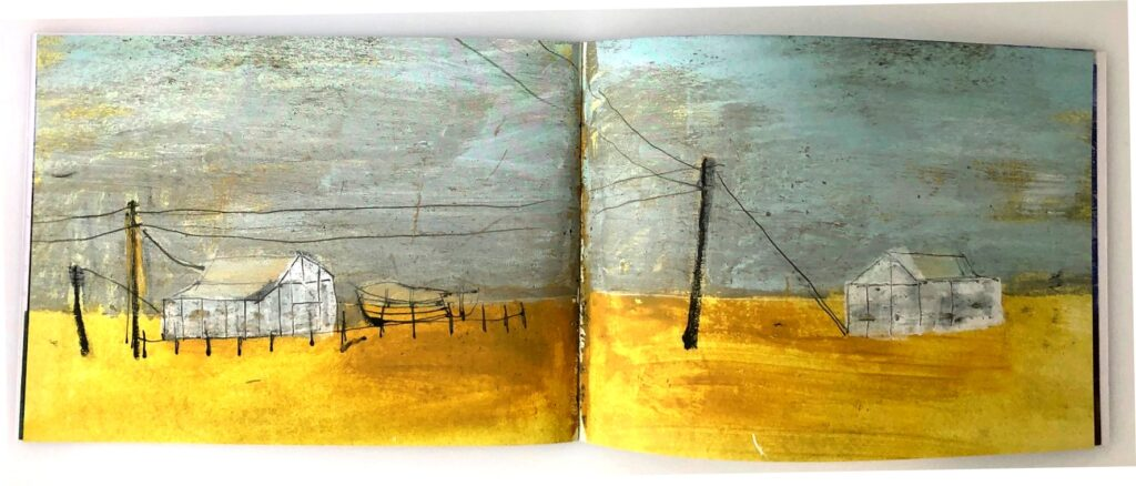 Dungeness sketchbook pages 10 and 11