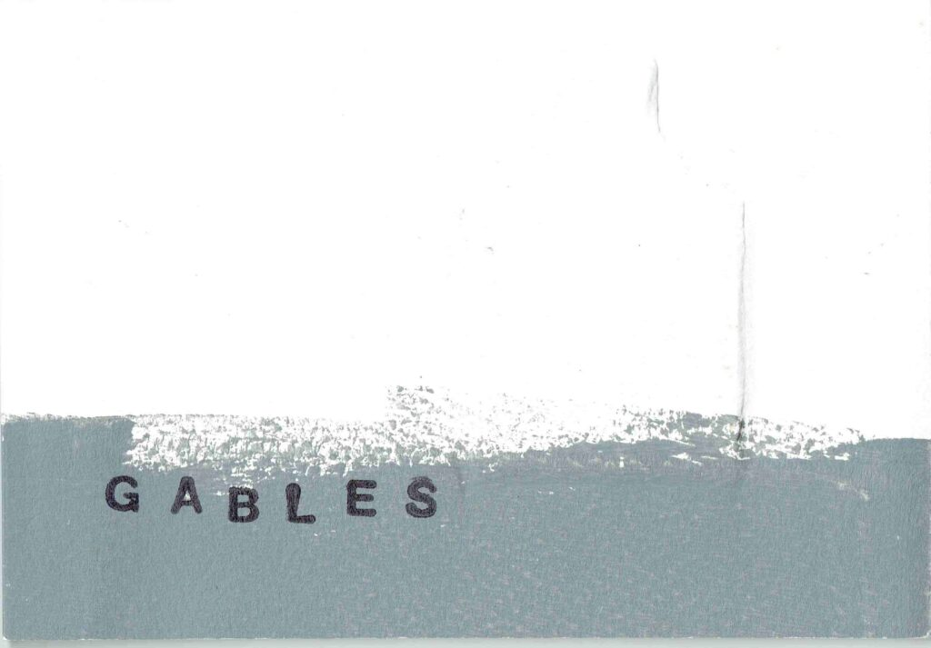 Gables (embosssed cover) inkjet print with monotype edition of 10