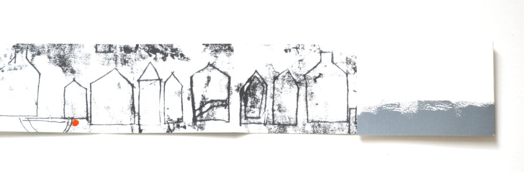 Gables (interior) inkjet print with monotype edition of 10