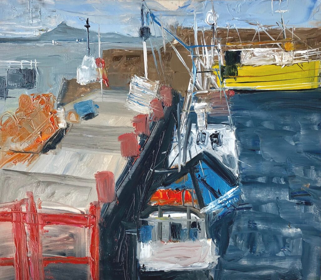 Harbour Wall oil on MDF unframed