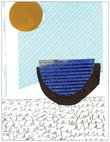 The Sea blank notecard and envelope