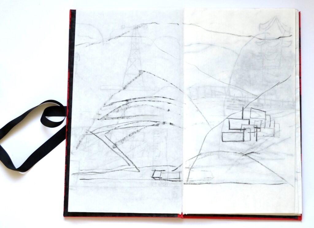 Yangtse River artist book concertina