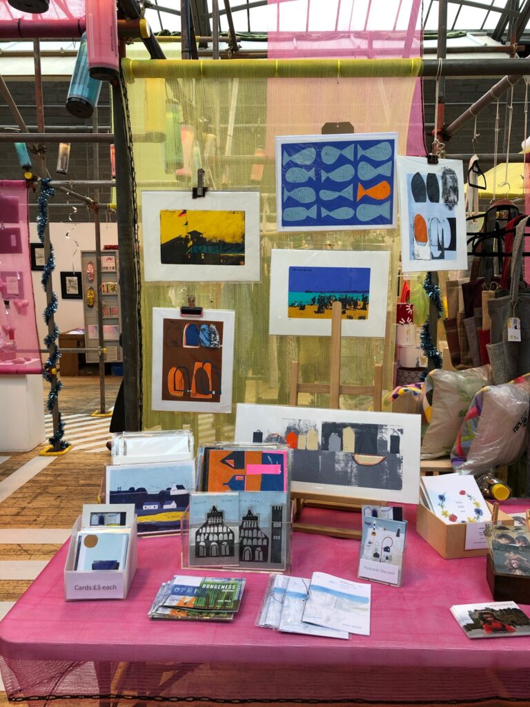 Lynda Wilson Artist at Makeshift, Out of the Blue Drill Hall