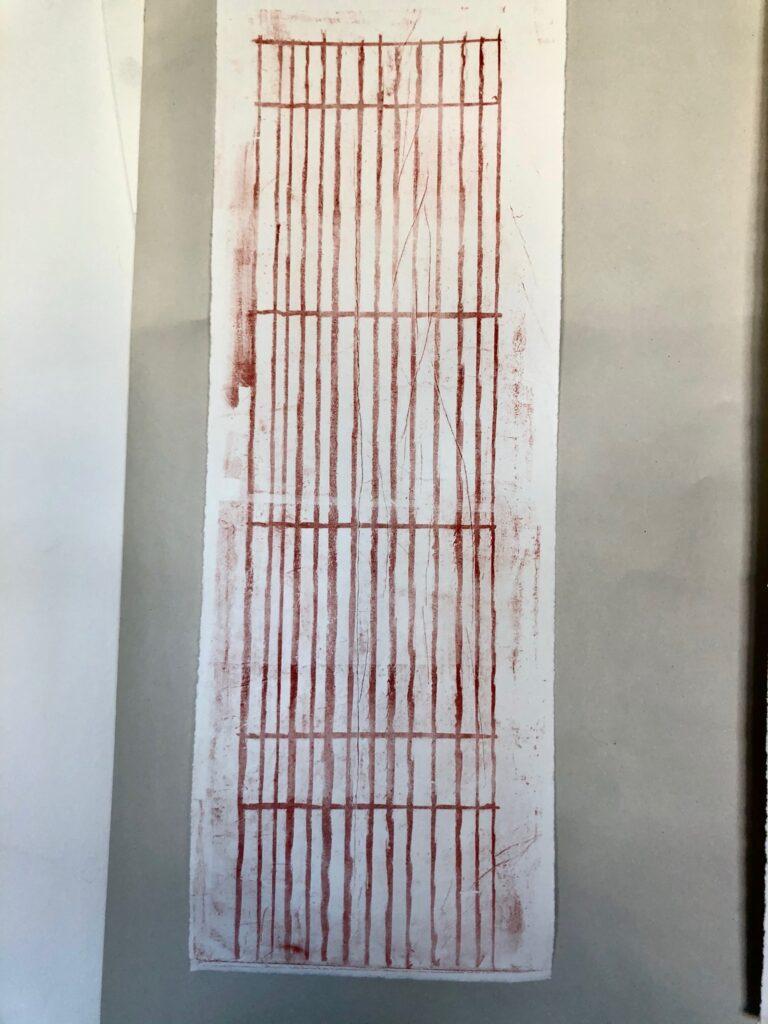 Print using kitchen litho