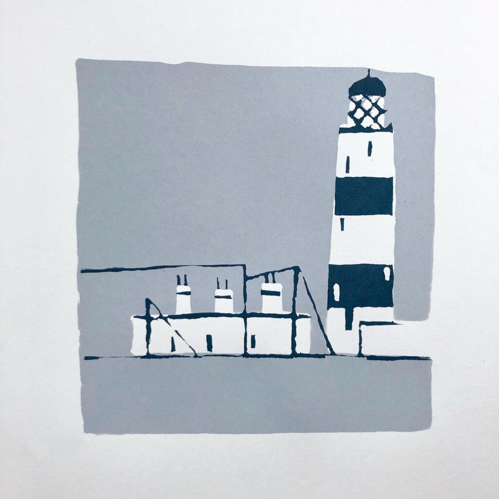 Lighthouse screenprint
